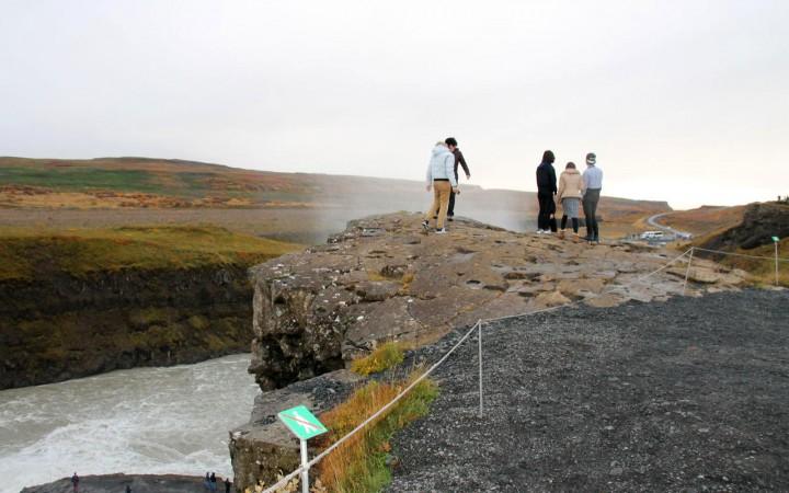 Aussichtspunkte Gullfoss Wasserfall