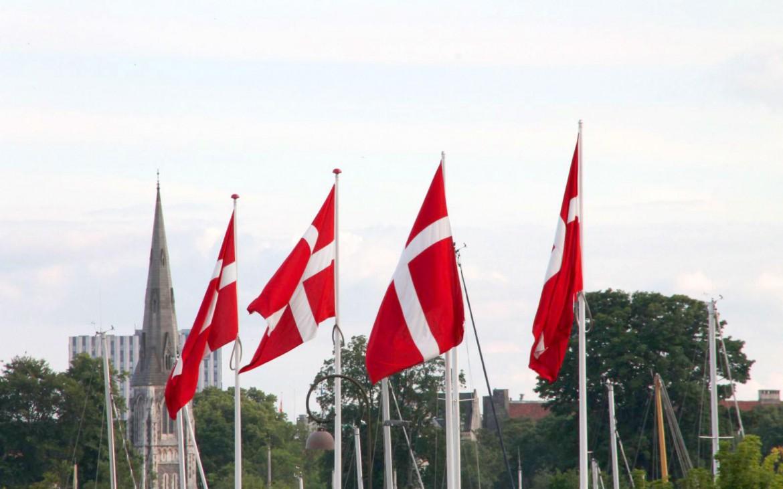 Dänische Flaggen