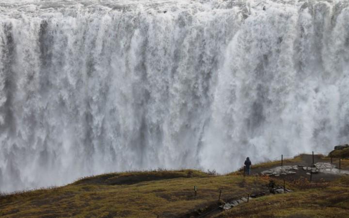 Mächtiger Wasserfall Dettifoss