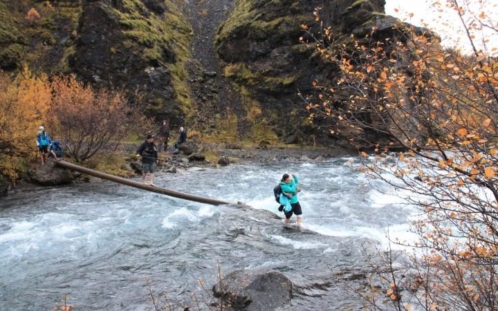 Eiskalter Weg zum Glymur