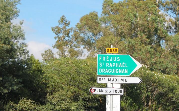 Fahrt über Fréjus und Saint-Raphaël