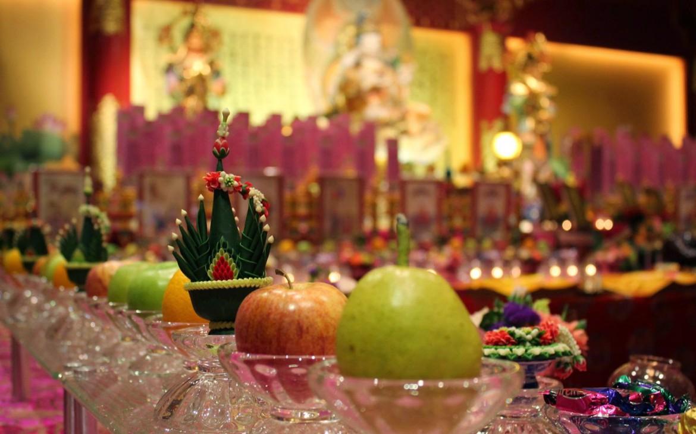 Gedeckte Tische Buddha Tooth Relic Tempel