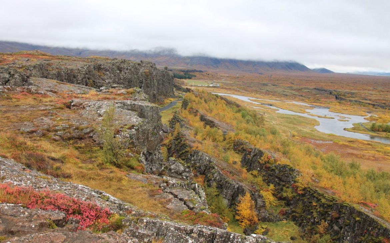 Almannagja-Schlucht im Thingvellir Nationalpark