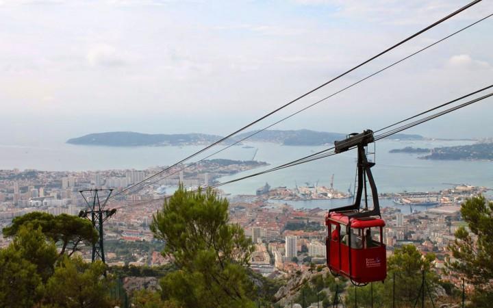 Blick vom Mont Faron auf Toulon