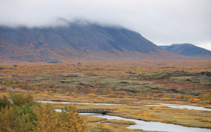 Landschaft des Thingvellir Nationalparks