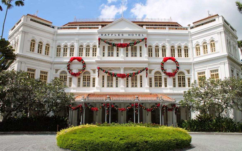 Raffles Hotel zur Weihnachtszeit