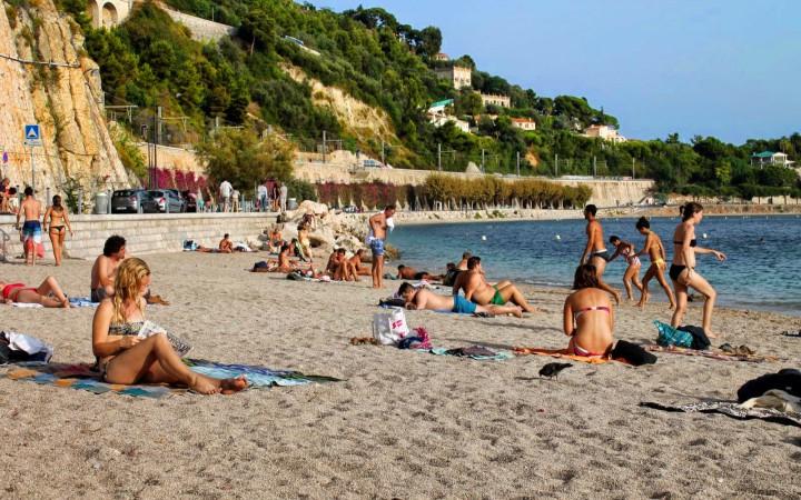 Strand von Villefranche-sur-Mer