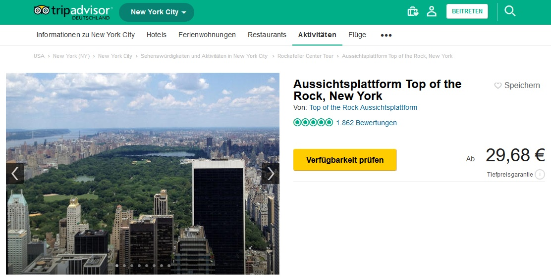 Top of the Rock Tripadvisor