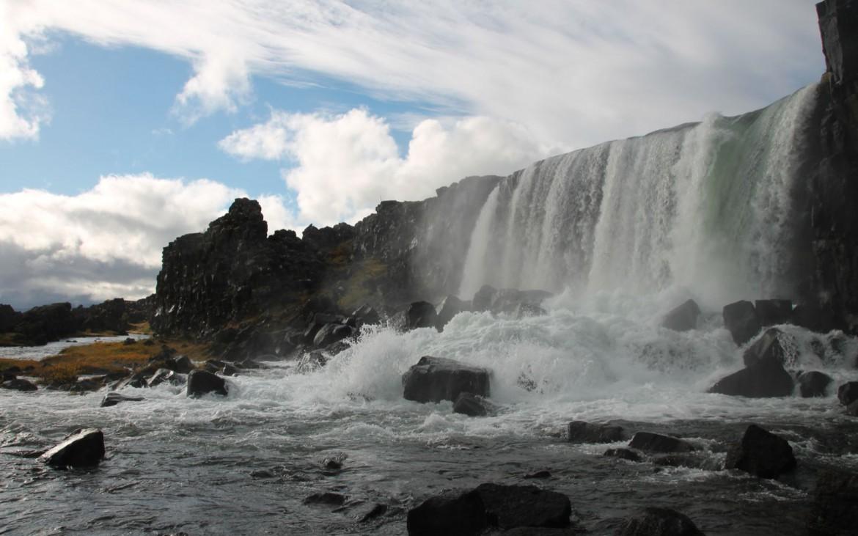Wasserfall Öxarárfoss